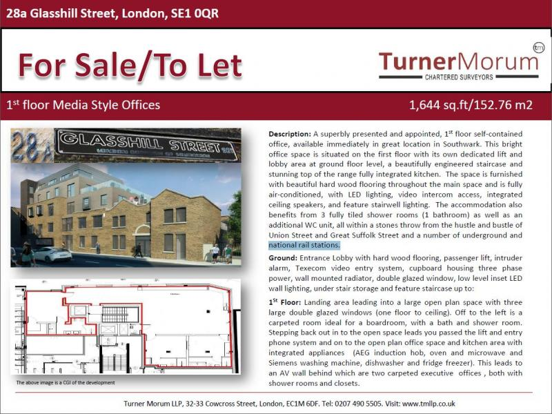 Office to Rent And Buy - 28a Glasshill Street, London Bridge